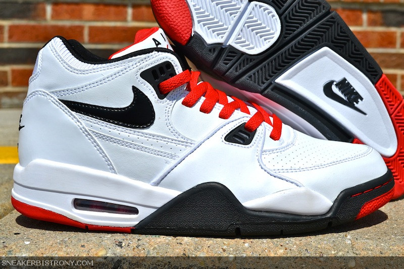 2015 New Nike Air Flight 89 Black White Sport Red