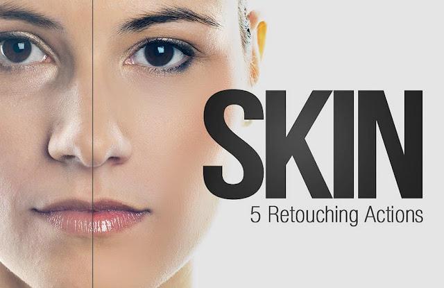 5 Photoshop Actions Skin Retouching