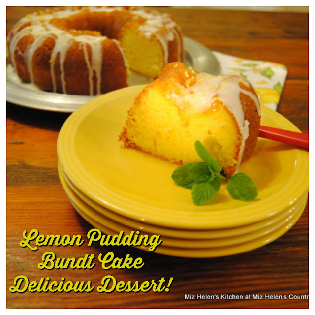 Lemon Pudding Bundt Cake at Miz Helen's Country Cottage