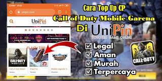 Cara Top Up CP Call of Duty Mobile Garena Di Unipin