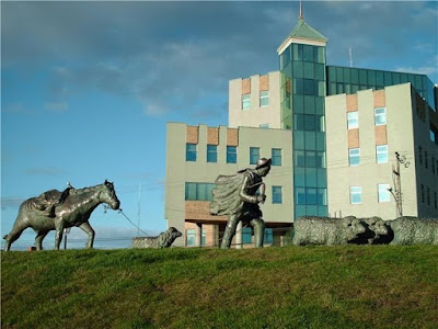 Monument to the Shepherd in Punta Arenas, Chile.