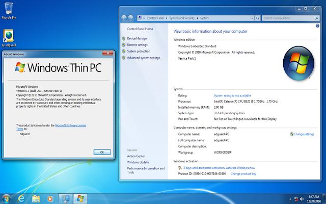 Windows 7 Super Lite Edition SP1 June 2019 - Win 7 dành cho máy yếu