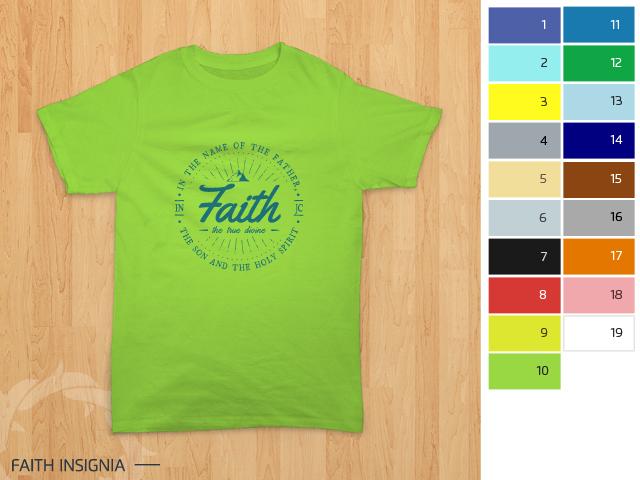 preview desain kaos rohani Kristen - Faith Insignia