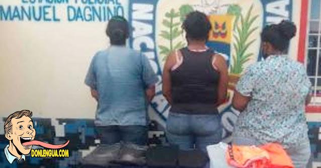 Tres pirañas detenidas robando ropa en Traki de Maracaibo