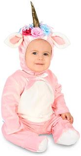Girls Enchanted Pink Unicorn Infant Costume for Halloween
