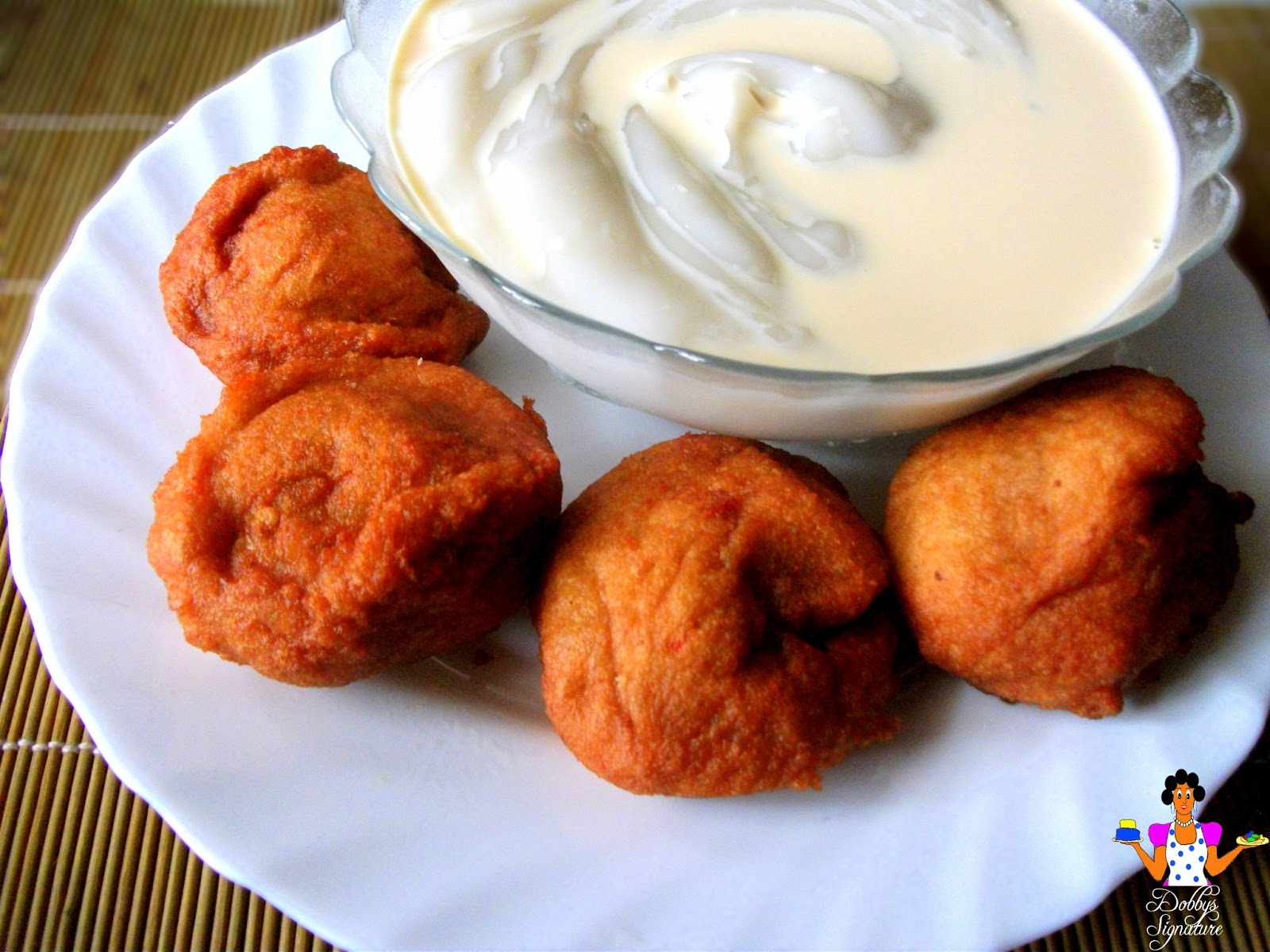 Akara Served With Pap And Milk