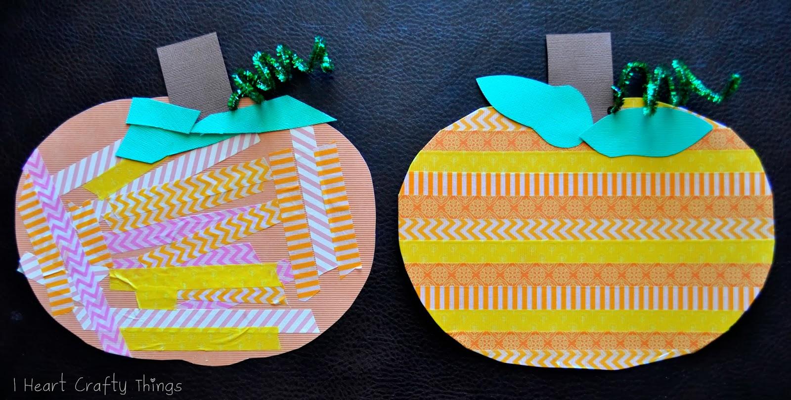 Washi Tape Patterned Pumpkins