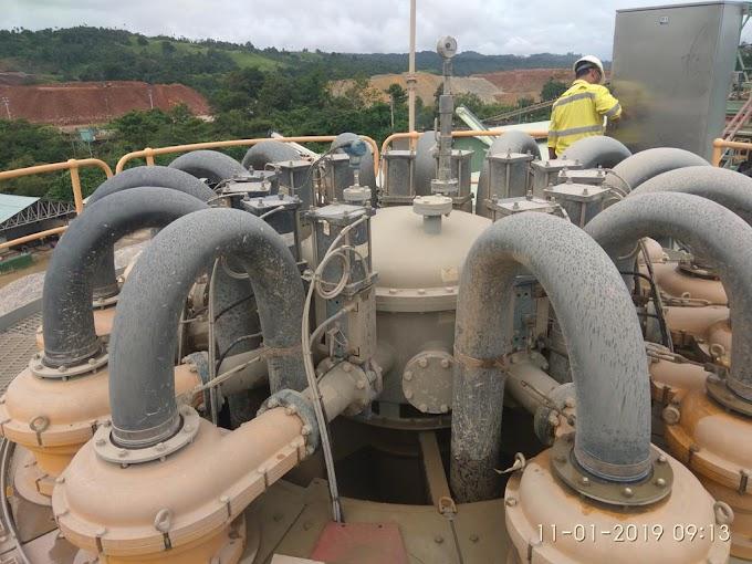 Aktivitas metallurgist Inspeksi hidrosiklon