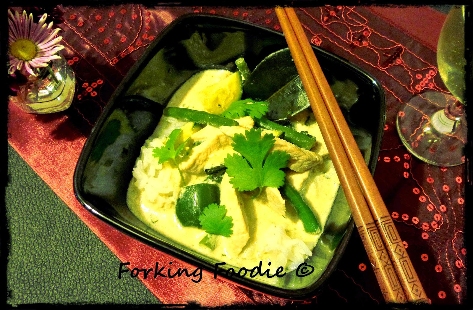 Authentic Thai green chicken curry recipe