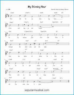 chord my shining hour lagu jazz standar