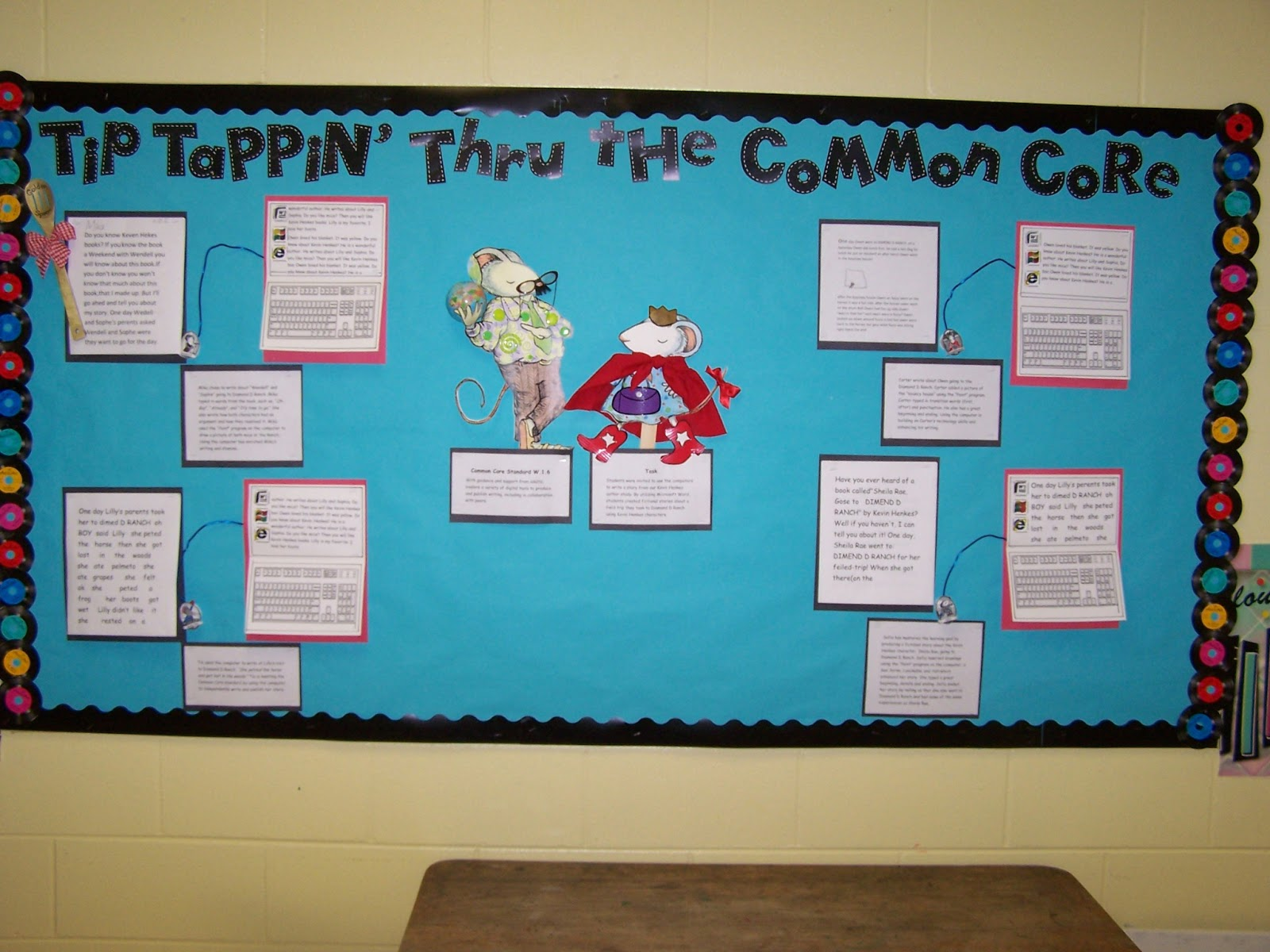 Bulletin Board Common Core And Technology For First Grade