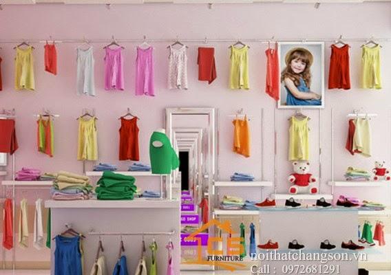 Nội thất chàng sơn thiết kế và thi công nội thất shop trẻ em, thiết kế nội thất và thi công nội thất shop trẻ em