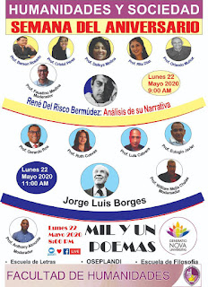 """Inician """"Semana Aniversario Facultad de Humanidades UASD con conversatorio sobre Jorge Luis Borges y René del Risco Bermúdez"""