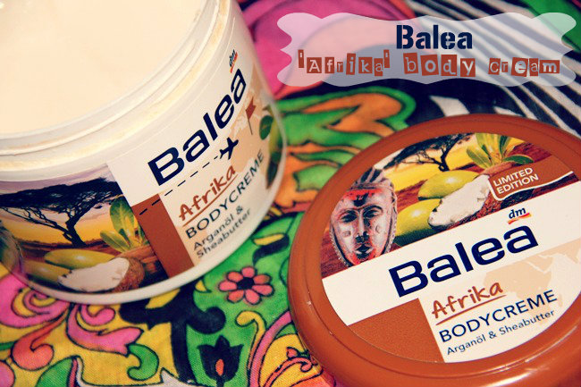 Balea Afrika body cream with argan oil and shea-butter