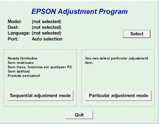 Epson L310 Resetter adjustment program