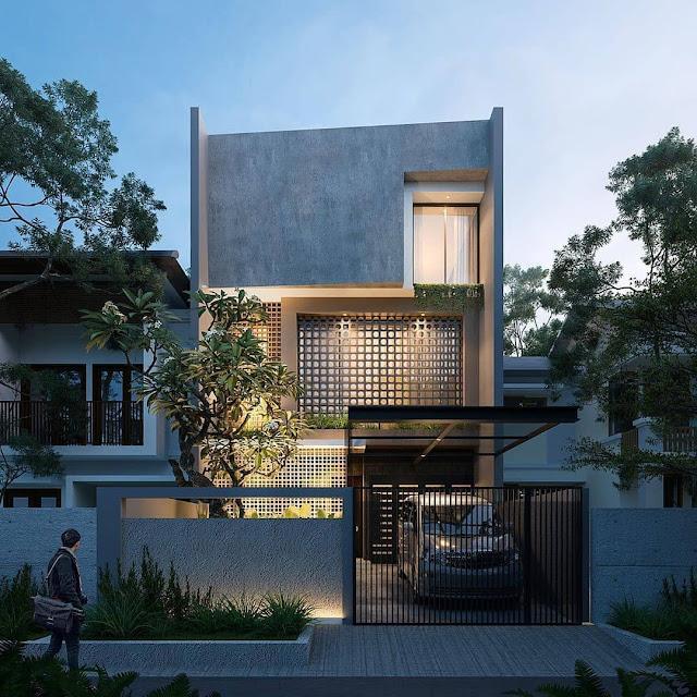 Rumah Minimalis 2 Lantai Tampak Depan Terbaru 2020