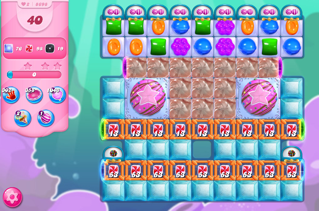 Candy Crush Saga level 8668