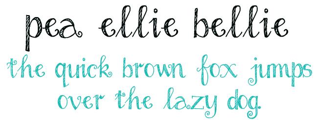 Pea Ellie Bellie Font