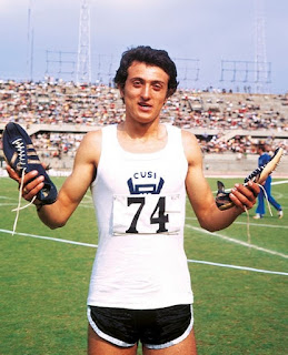 Pietro Mennea at his first Olympics in 1972