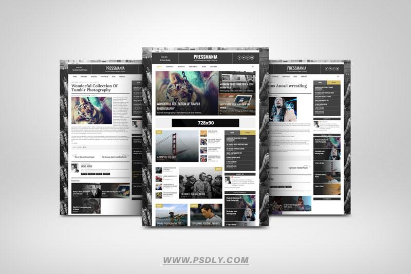 PressMania Blogger Template Premium Free