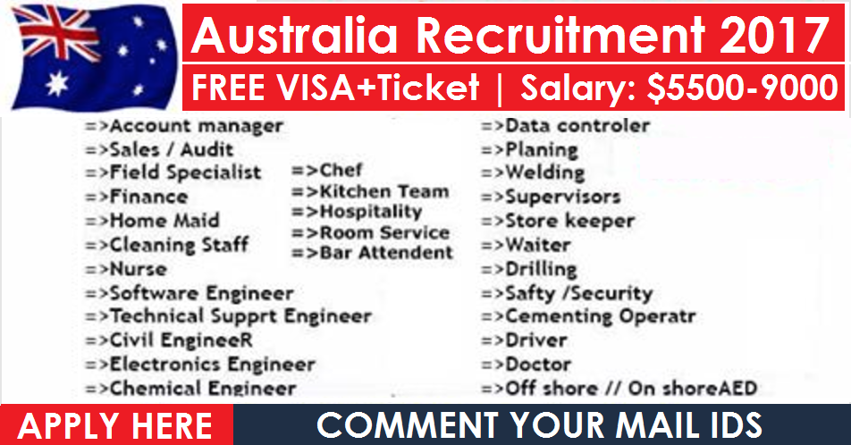 Latest Jobs Vacancies | Australia – Apply Now | All Gulf Vacancy