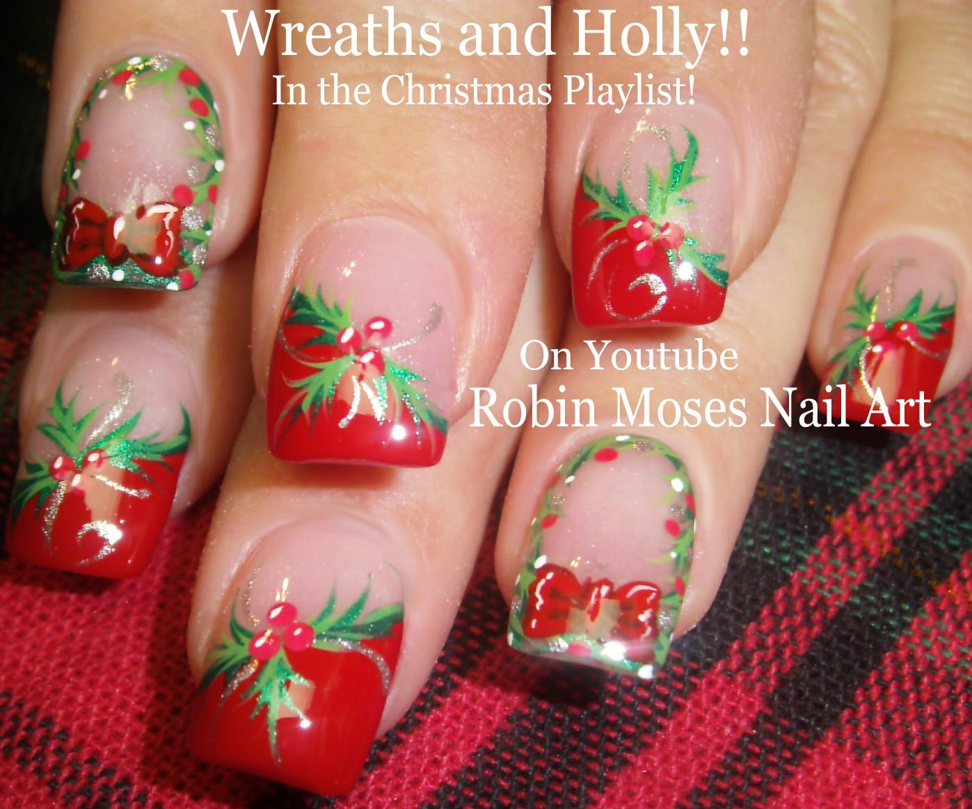 Nail Art by Robin Moses: Christmas Scene Nail Art Ideas! \