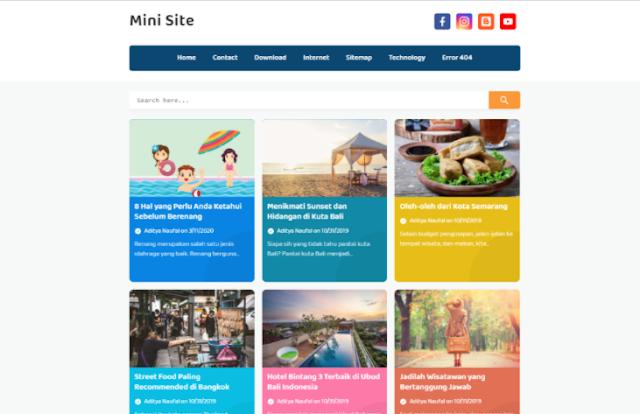 Mini Site Template Blog