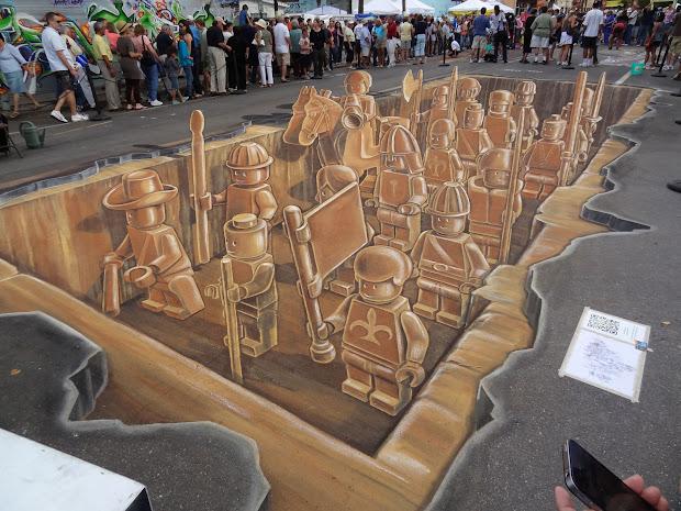 Street Art Sarasota Chalk Festival - Sidewalk