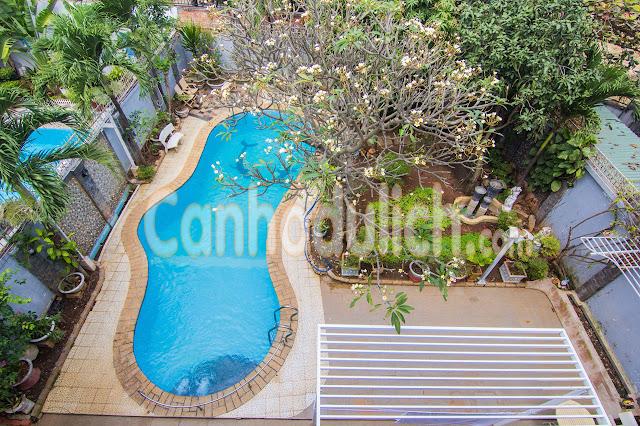 Villa 14 Kim Minh Vũng Tàu có s6n vườn rộng rãi