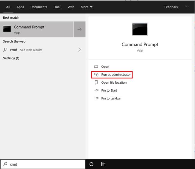 استخدم موجه الأوامر لاستعادة الملفات المحذوفة Windows 10