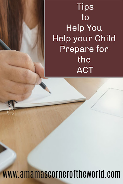 pinnable image for a post about helping prepare for an ACT test