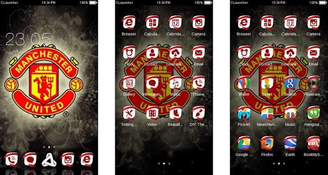 Tema Manchester United Android - Unique Icon