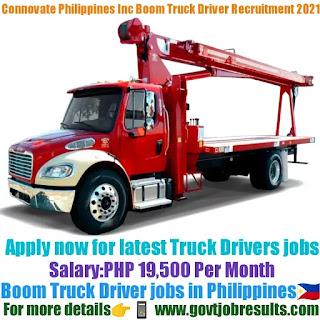 Connovate Philippines Inc Boom Truck Driver Recruitment 2021-22