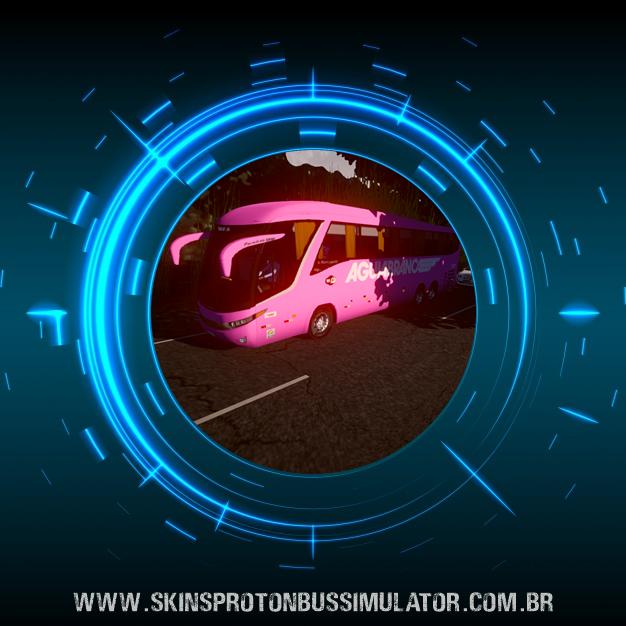 Skin Proton Bus Simulator Road - G7 1200 Volvo B12R Viação Aguia Branca
