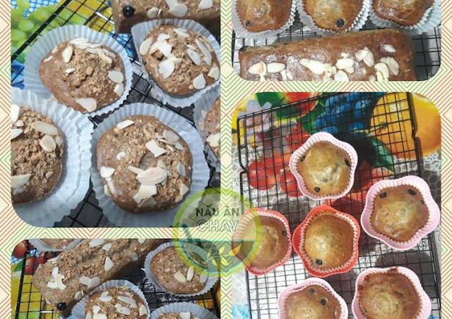 Muffin chuối chay
