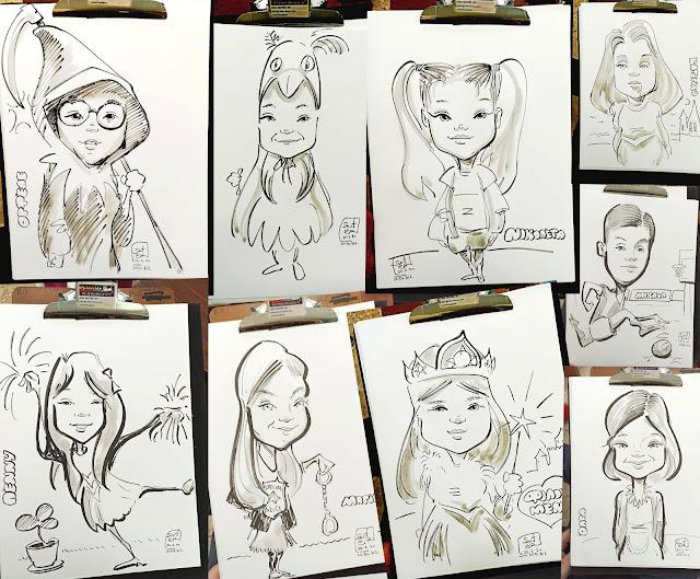 Εκδηλώσεις καρικατούρας: Ένα πρωτότυπο αποκριάτικο πάρτυ στο σχολείο , σκίτσο , πάρτι , evet , events live caricatures