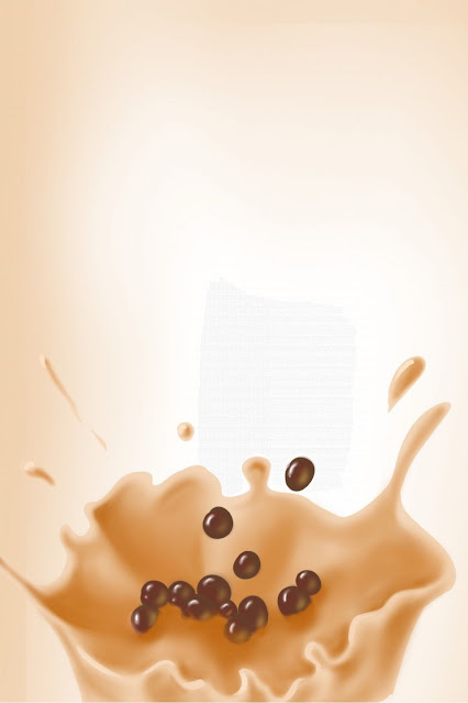 aesthetic boba milk tea wallpaper