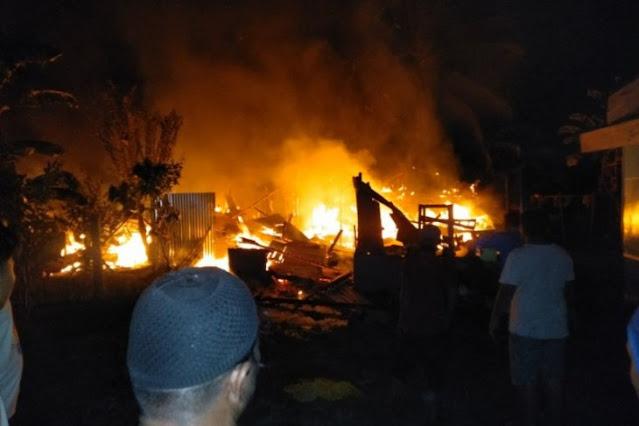 Tiga rumah warga Tanjung Pura Langkat terbakar