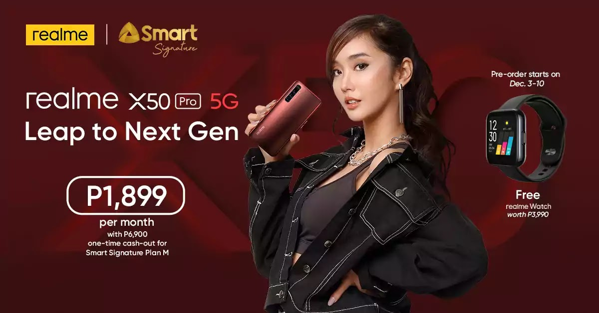 Alodia is the official ambassador of the realme X50 Pro 5G