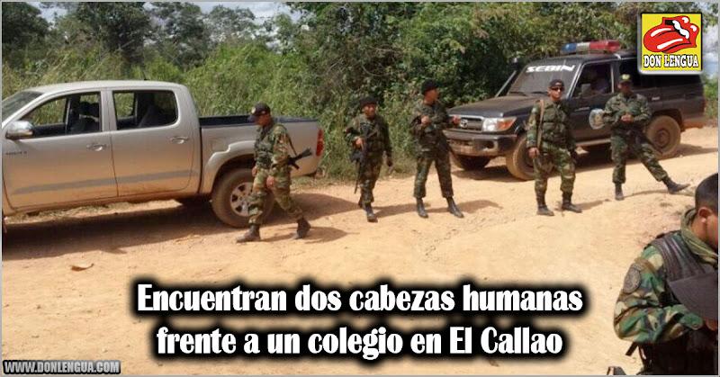Encuentran dos cabezas humanas frente a un colegio en El Callao
