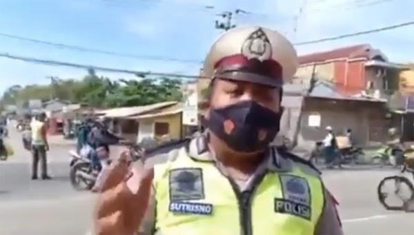 Innalillahi, Saat Polisi Imbau Pengendara Hati-hati Tiba-tiba Mak Bruk!