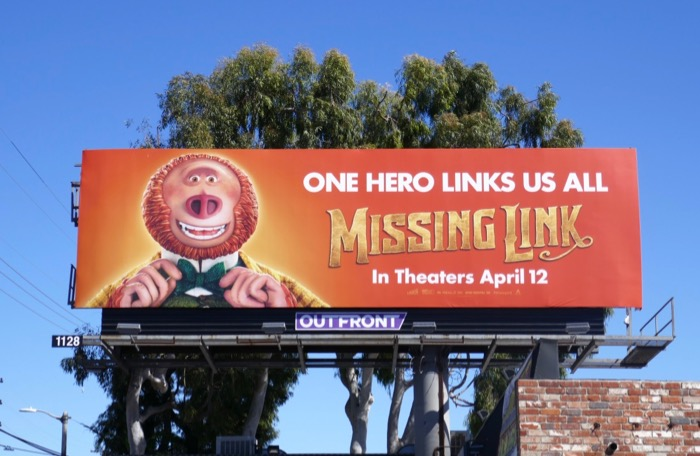 Missing Link movie billboard