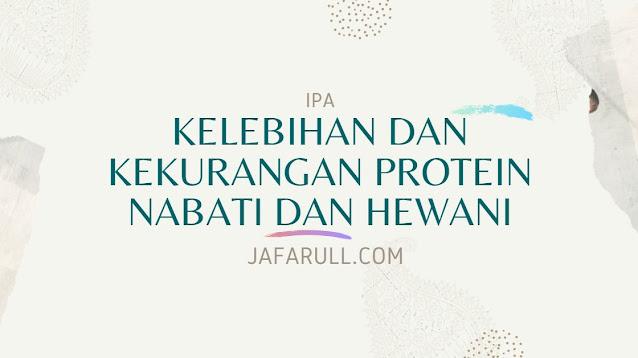 Kelebihan dan Kekurangan Protein Nabati dan Hewani