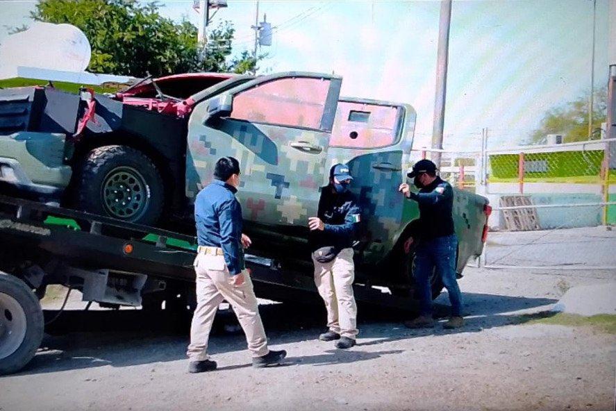 Fotos: Aseguran en Tamaulipas a Sicarios camioneta clonada de la SEDENA
