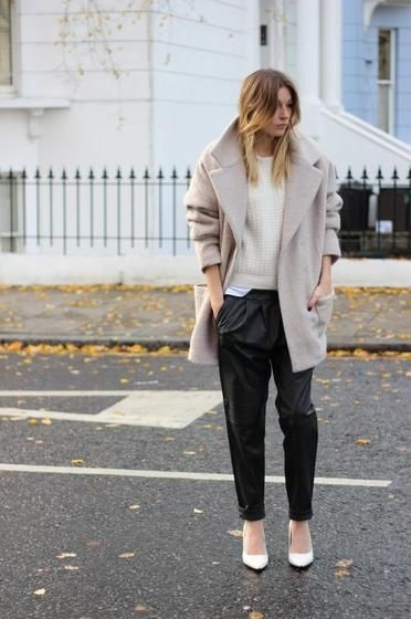 Greige street style outfits