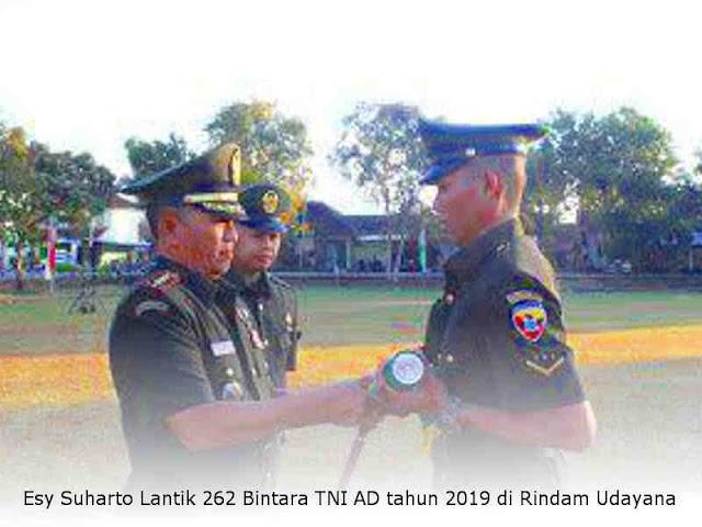 Esy Suharto Lantik 262 Bintara TNI AD tahun 2019 di Rindam Udayana