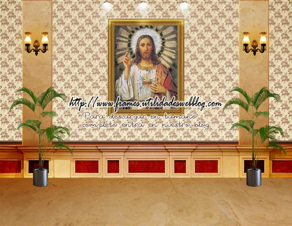 Fondo  del Corazón de  Jesús para fotomontajes