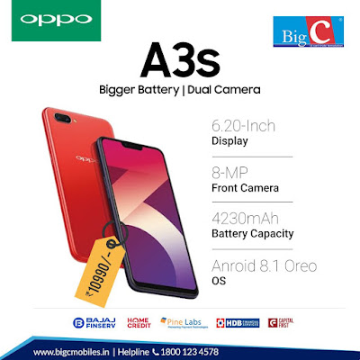 Specifications and Price of Oppo A3s smartphone