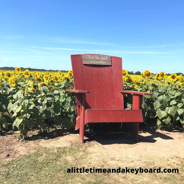 A big chair provides a fun photo opportunity at Von Bergen's Country Market