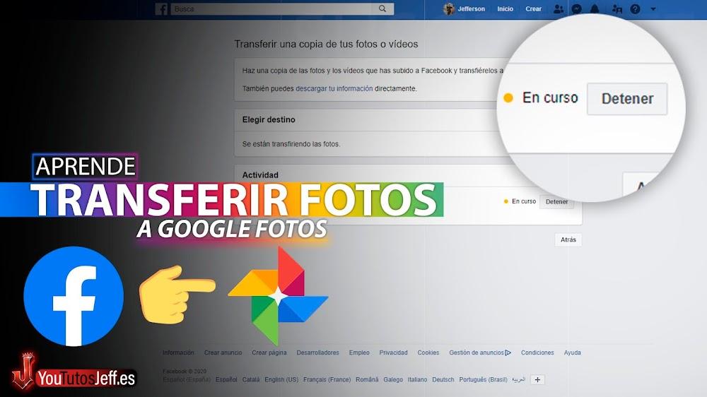 Pasar Todas las FOTOS DE FACEBOOK a Google Fotos